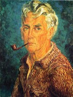 self-portrait-pipe-and-brown-jacket-1947